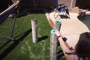 Pomona Pool Cleaning filter cleaning process