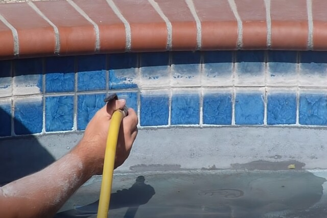 Pomona Pool Cleaning tile cleaning project
